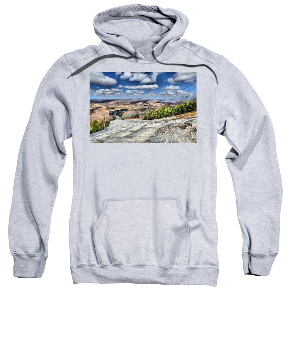 Skiing Sweatshirt featuring the photograph Transition by Adam Jewell