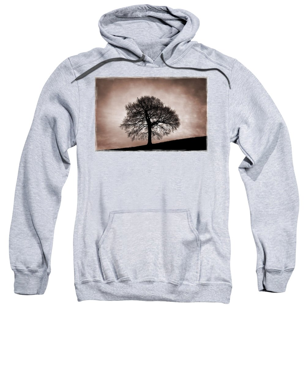 Nottinghamshire Sweatshirt featuring the photograph Tree Against A Stormy Sky by Chris Upton