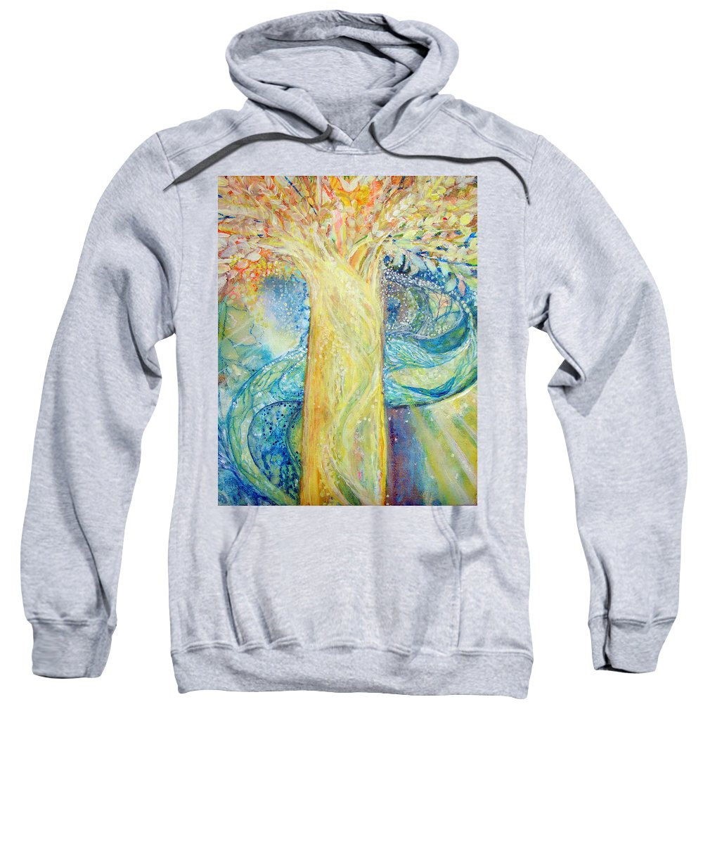 Sweatshirt featuring the painting Tree Of Light by Ashleigh Dyan Bayer