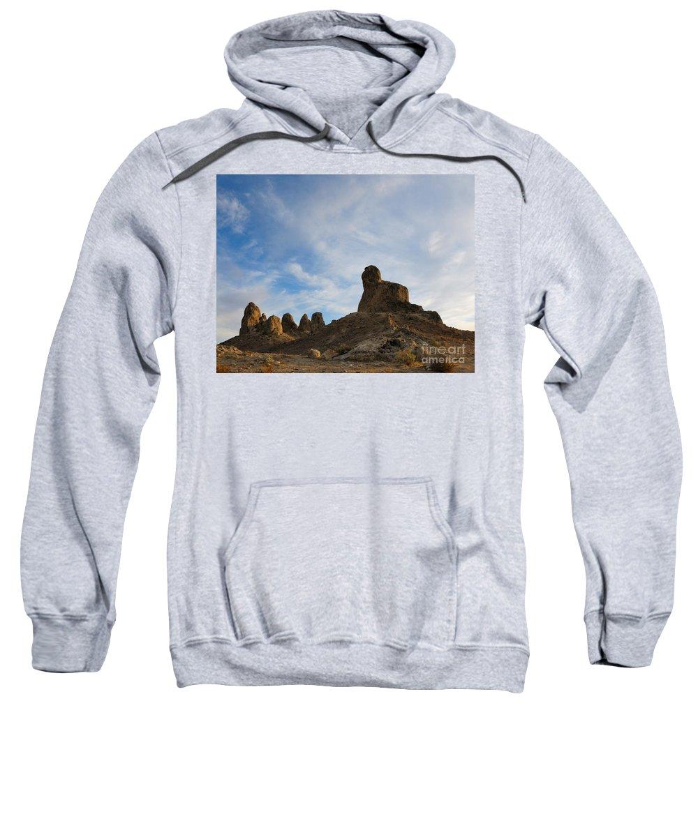 Trona Pinnacles Sweatshirt featuring the photograph Trona Pinnacles 2 by Vivian Christopher
