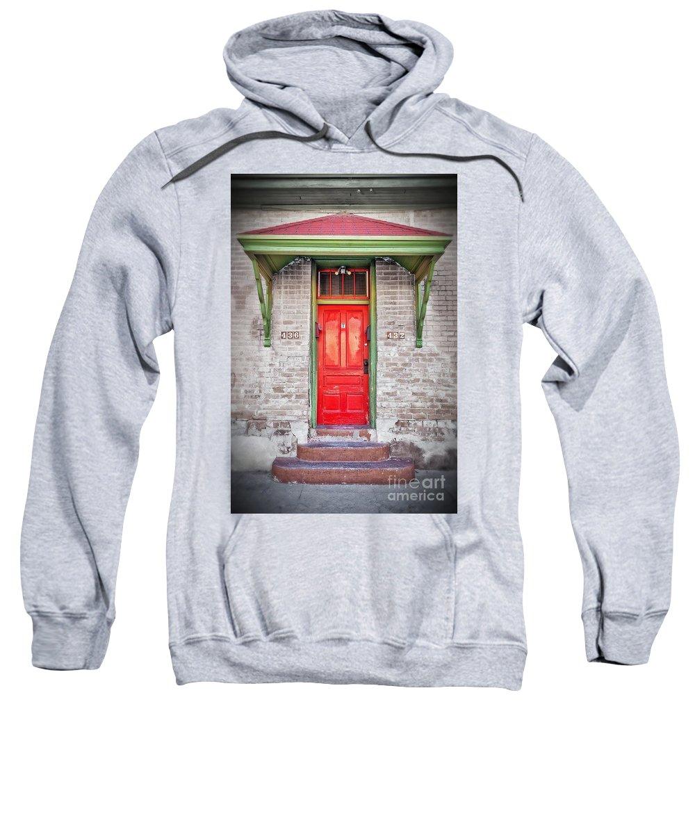 2011 Sweatshirt featuring the photograph Tucson Red Door by Matt Suess