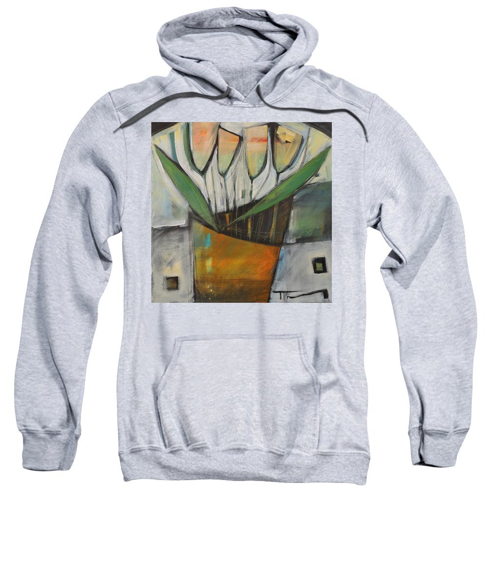 Tulips Sweatshirt featuring the painting Tulips In Terracotta by Tim Nyberg