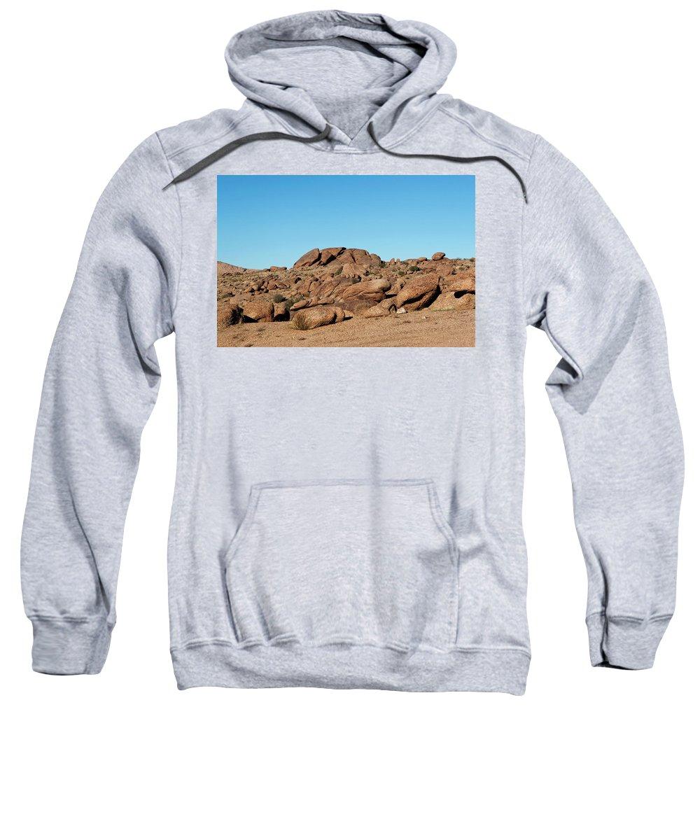 Gold Butte Region Sweatshirt featuring the photograph Tumbling Rocks Of Gold Butte by Lorraine Devon Wilke