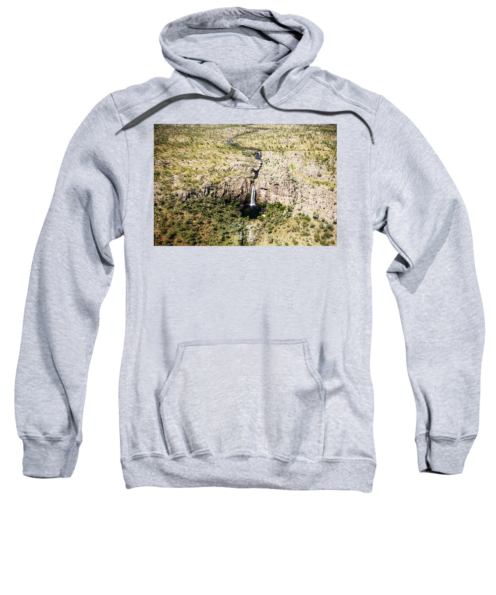 Waterfall Sweatshirt featuring the photograph Tumbling Waters by Douglas Barnard