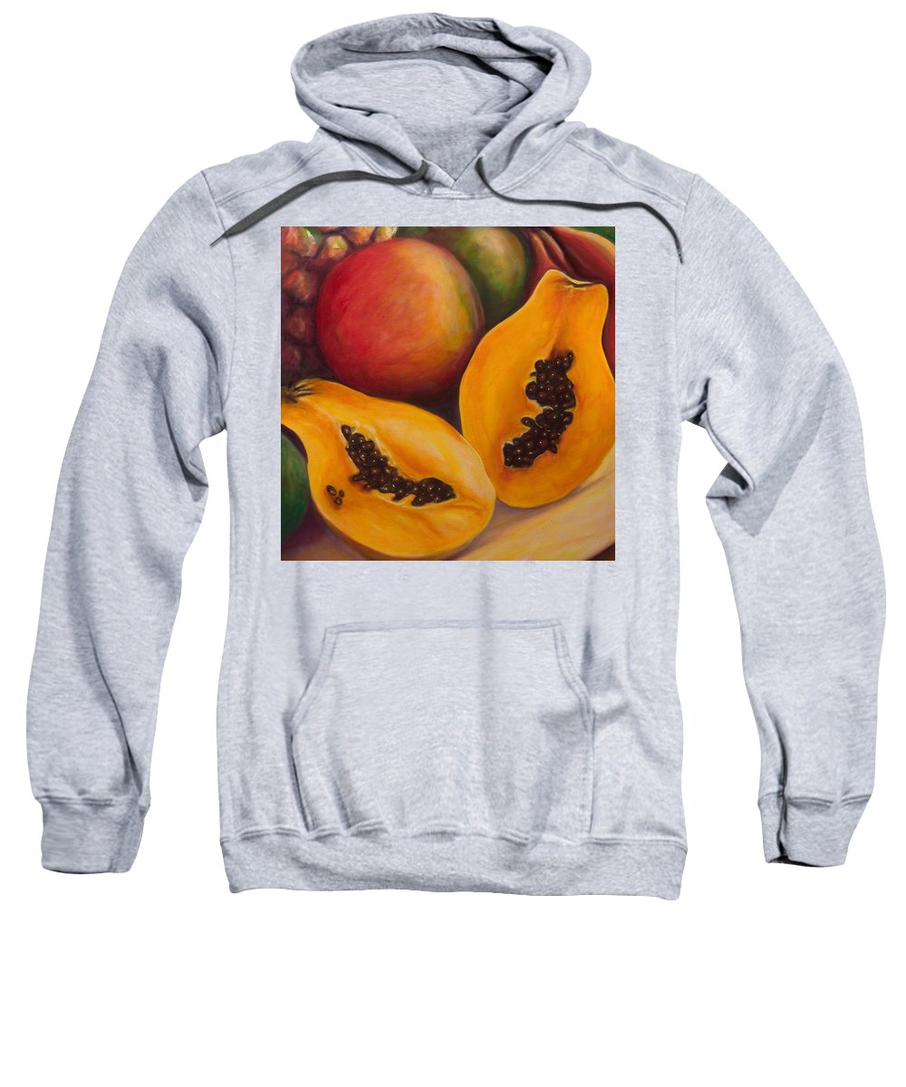Twins Sweatshirt featuring the painting Twins Crop by Shannon Grissom