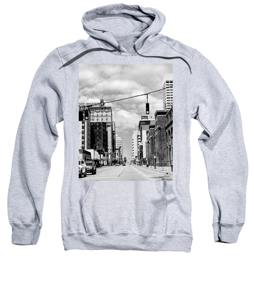 Downtown Sweatshirt featuring the photograph Union Avenue Memphis by Lizi Beard-Ward