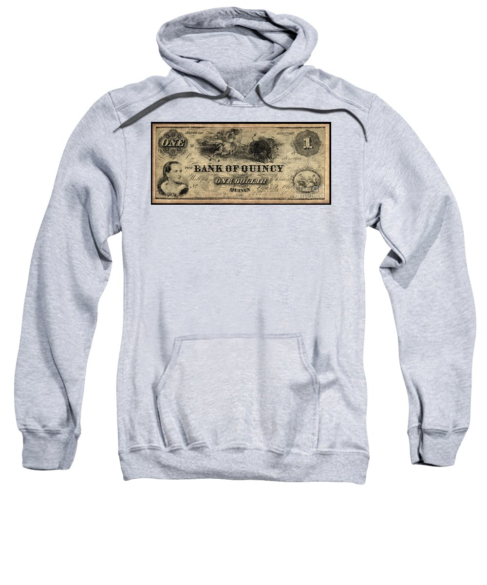 1861 Sweatshirt featuring the photograph Union Banknote, 1861 by Granger