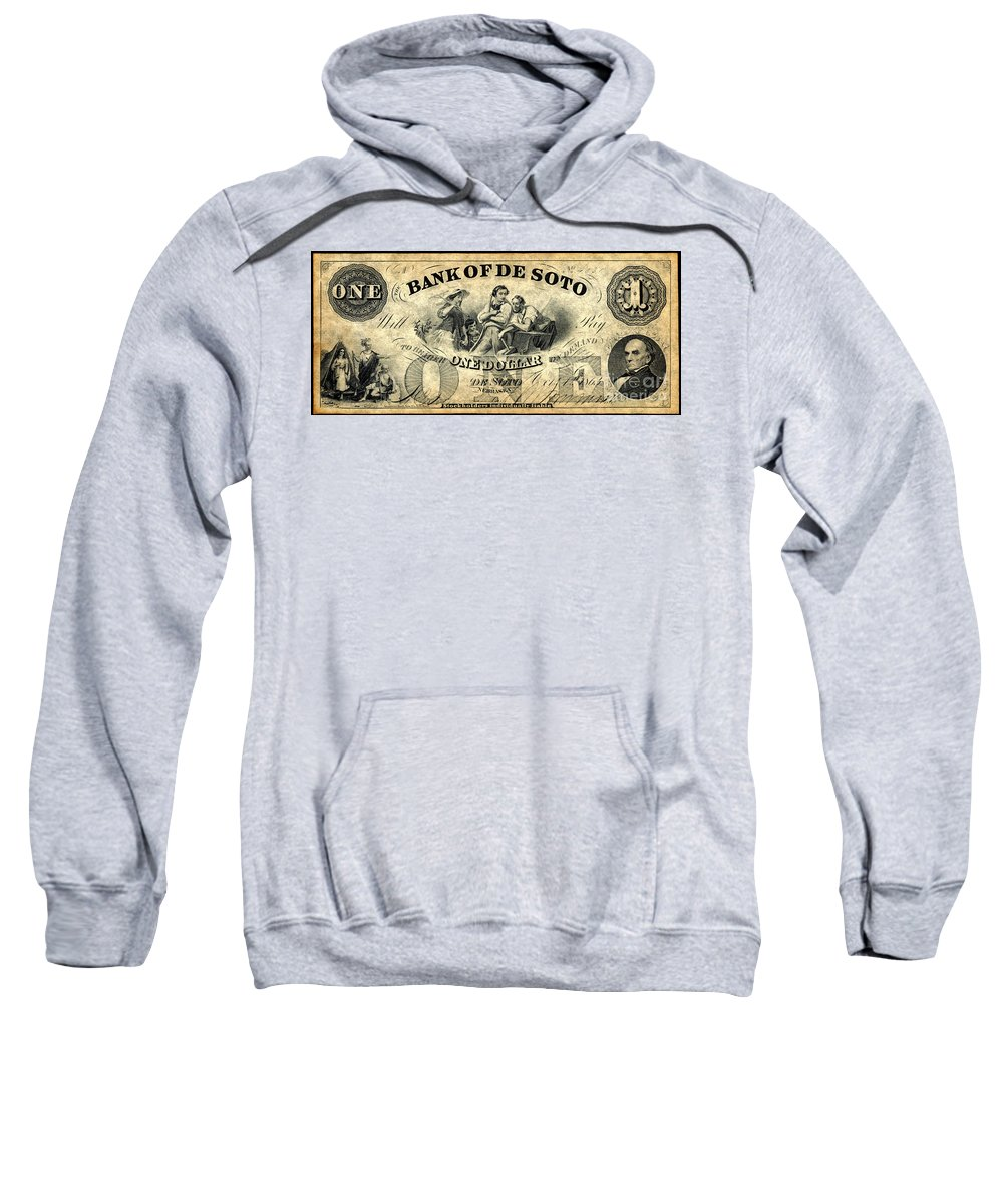 1863 Sweatshirt featuring the photograph Union Banknote, 1863 by Granger