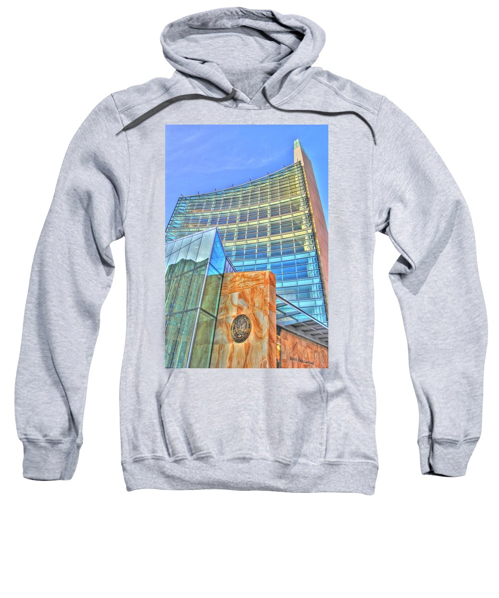 Sweatshirt featuring the photograph United States Court House by Michael Frank Jr