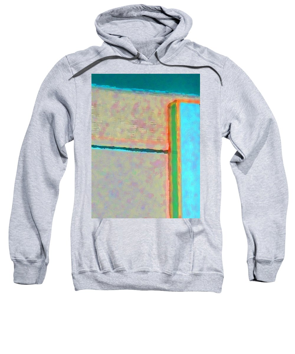 Abstract Sweatshirt featuring the digital art Up And Over by Richard Laeton
