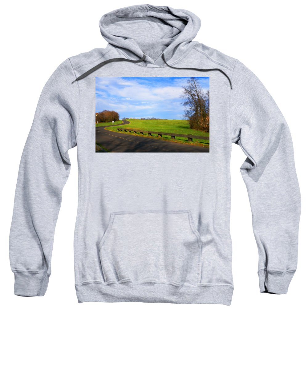 Landscape Sweatshirt featuring the photograph Uphill Battle by Tom Gari Gallery-Three-Photography