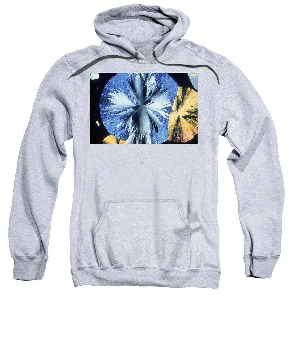 Vanillin Sweatshirt featuring the photograph Vanillin Crystals by M. I. Walker