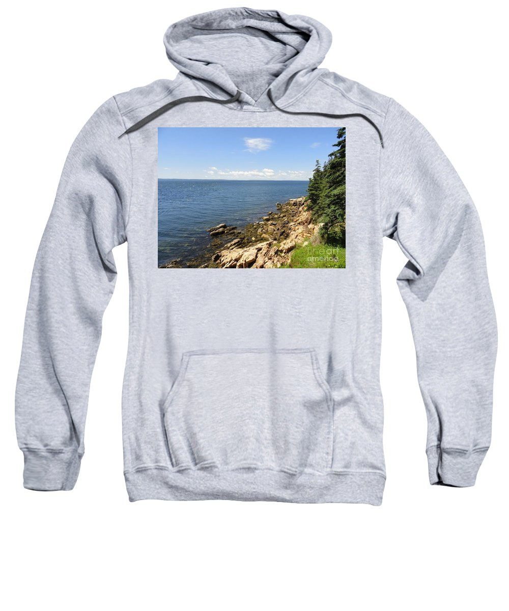 Maine Sweatshirt featuring the photograph View From Bass Harbor Light by Meandering Photography