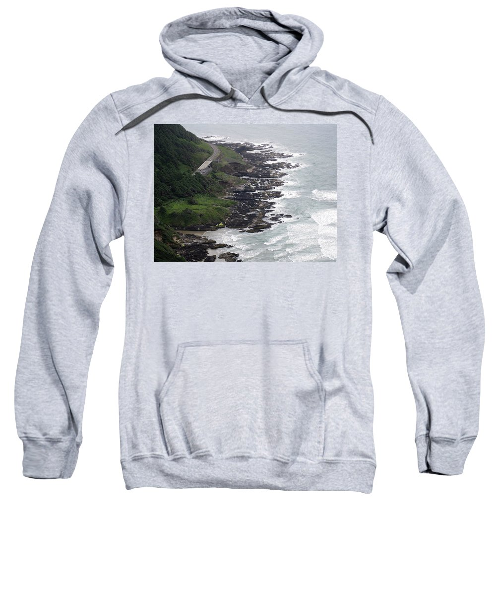 Cape Sweatshirt featuring the photograph View From Cape Perpetua by Linda Hutchins