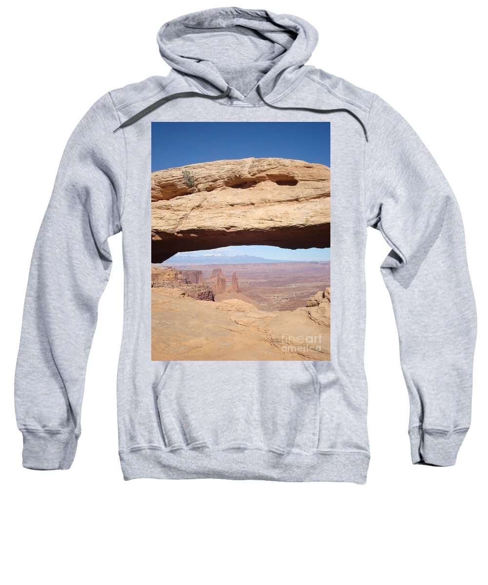 Landscape Sweatshirt featuring the photograph View Through Mesa Arch by Maili Page