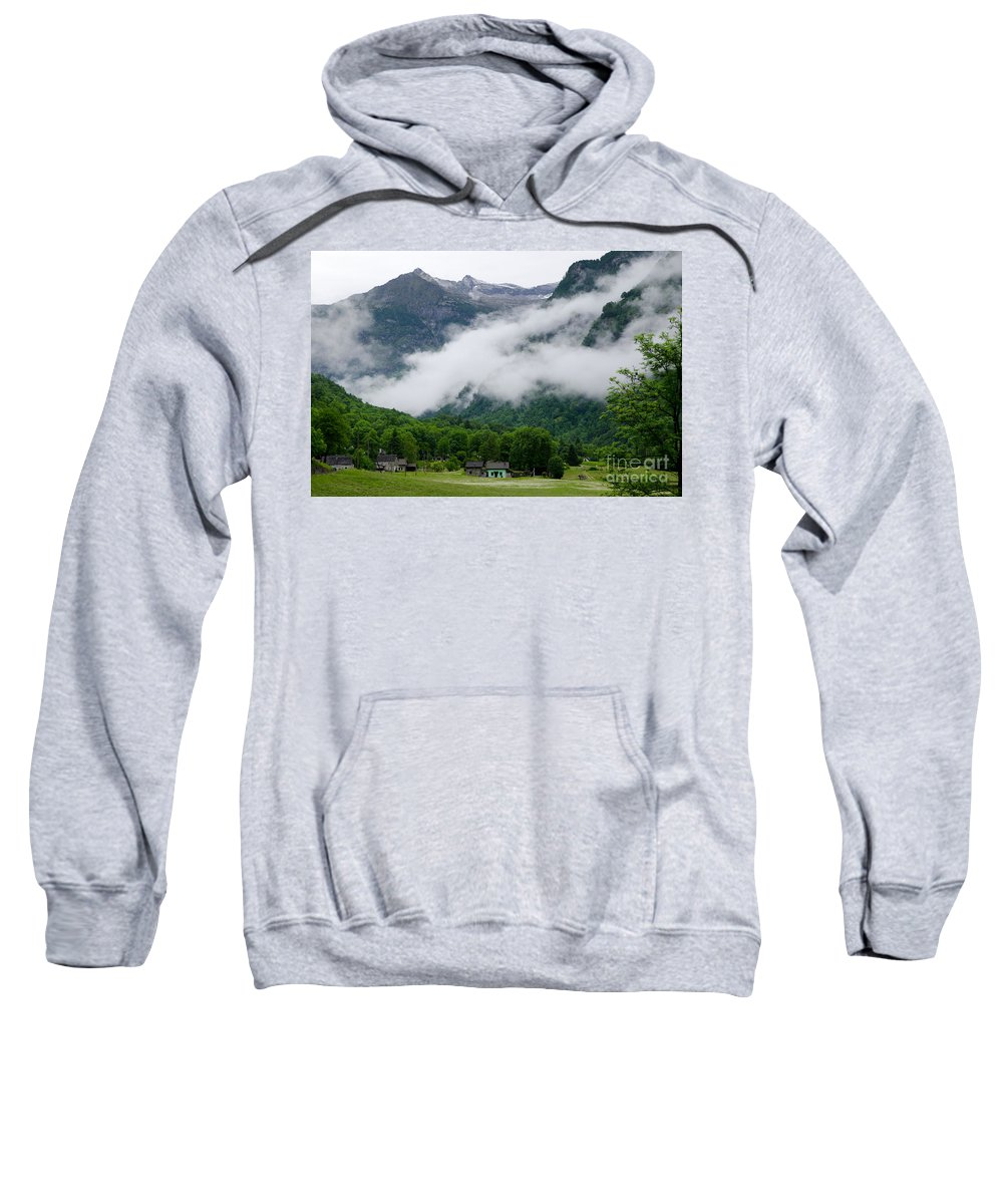 Village Sweatshirt featuring the photograph Village In The Alps by Mats Silvan