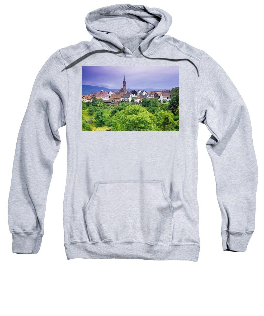 Cityscape Sweatshirt featuring the photograph Village Of Rottelsheim, Alsace, France by Bilderbuch