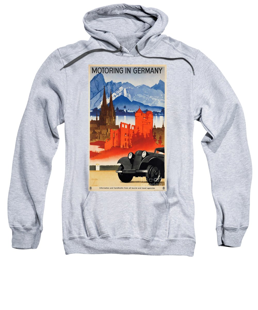 Germany Sweatshirt featuring the photograph Vintage Germany Travel Poster by George Pedro
