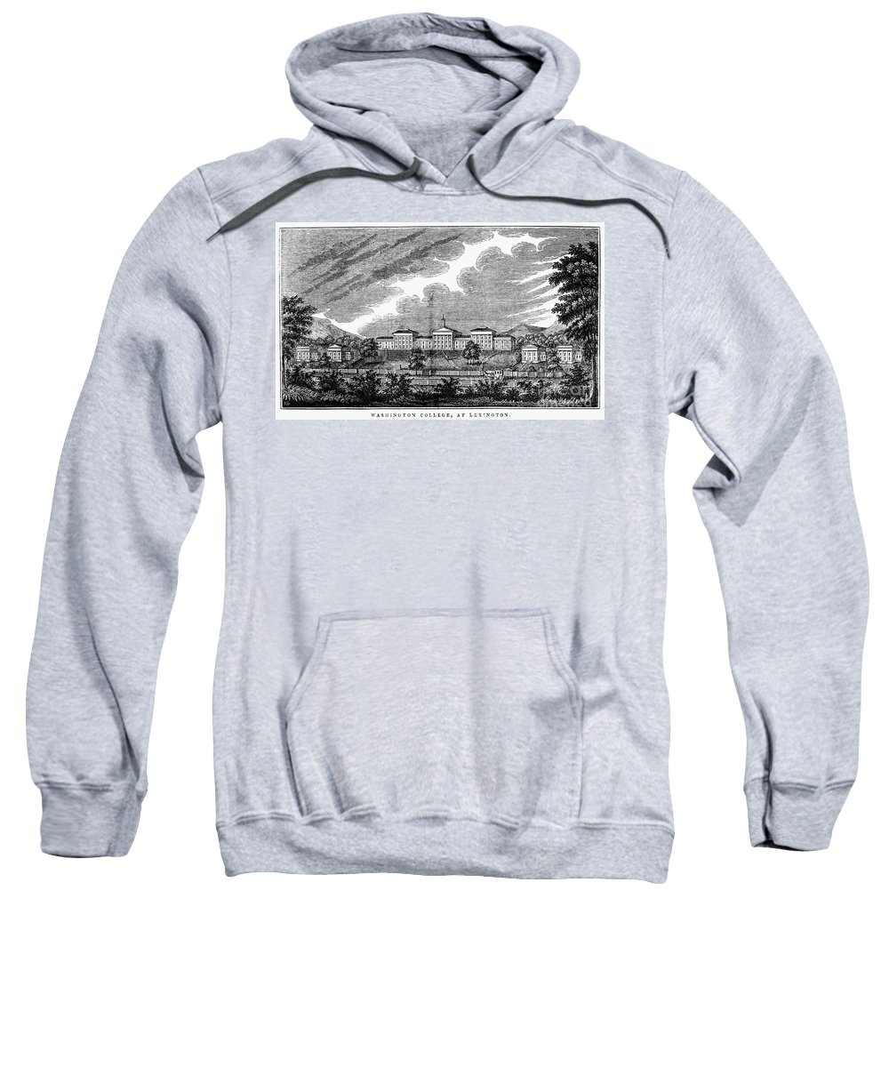 1856 Sweatshirt featuring the photograph Virginia: College, 1856 by Granger