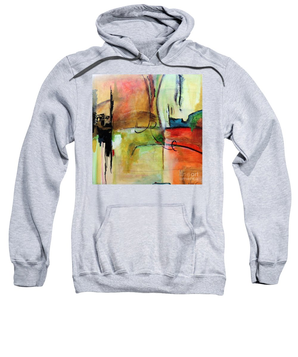 Black Sweatshirt featuring the mixed media Vision Constructed by Catron Wallace