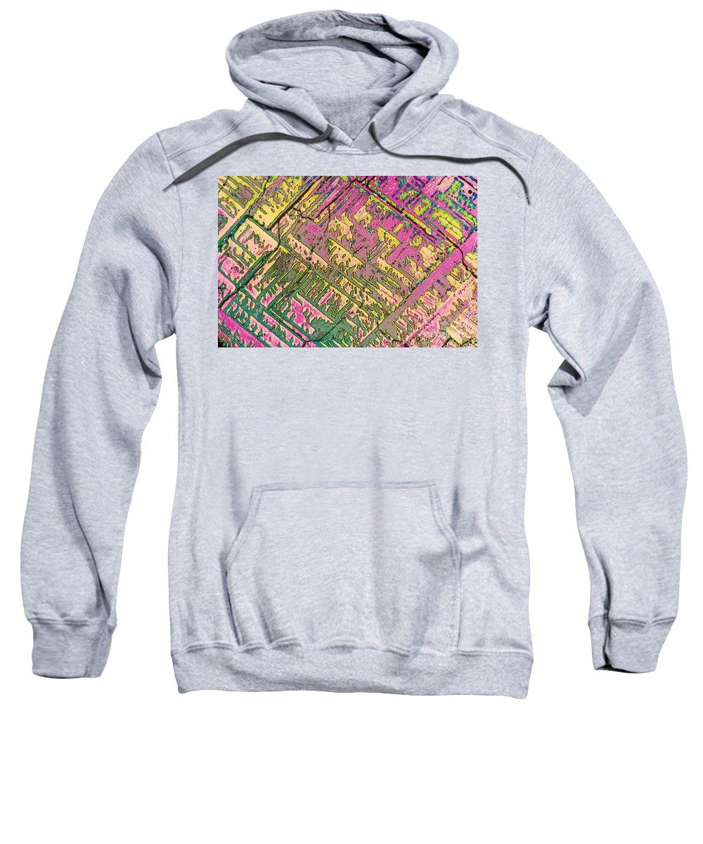 Chemistry Sweatshirt featuring the photograph Vitamin B12 Crystal by Michael W. Davidson