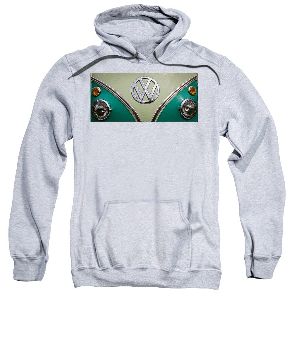 Volkswagen Sweatshirt featuring the photograph Vw Van by Steve McKinzie