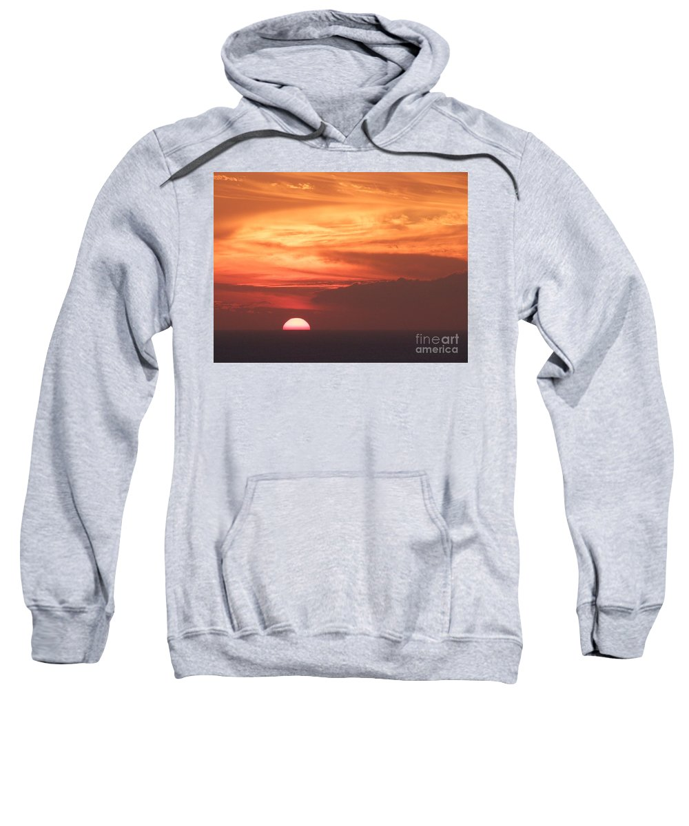 Mary Deal Sweatshirt featuring the photograph Waikiki Sunset No 4 by Mary Deal