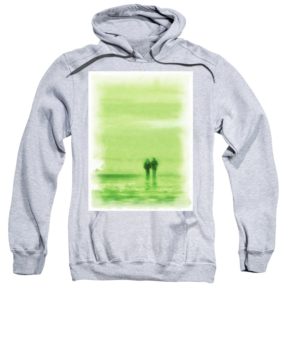 High Key Sweatshirt featuring the photograph Walking On Green by Steve Taylor
