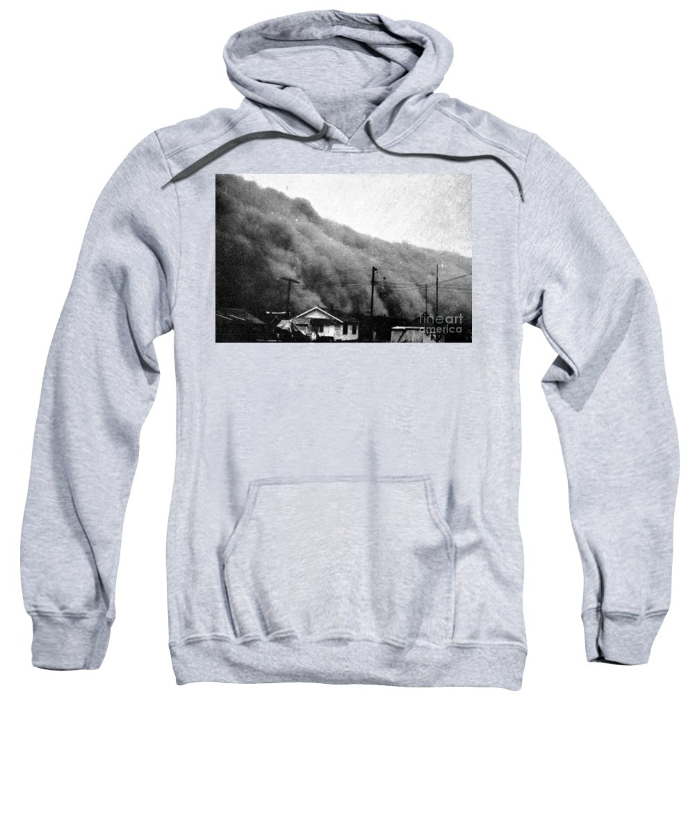 Science Sweatshirt featuring the photograph Wall Of Dust, Kansas, 1935 by Science Source