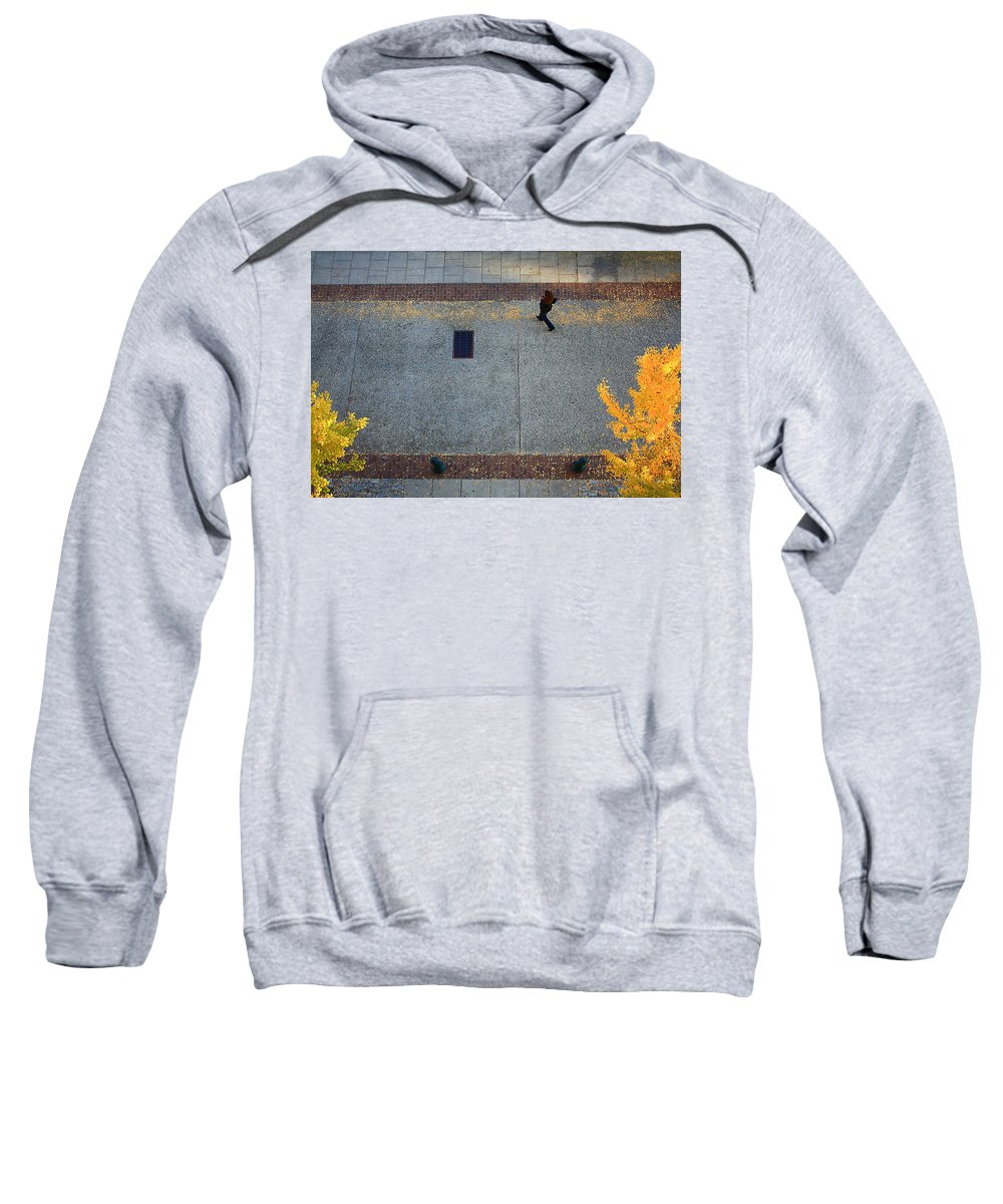 Wall Street Sweatshirt featuring the photograph Wall Street Looking Down by Gray Artus