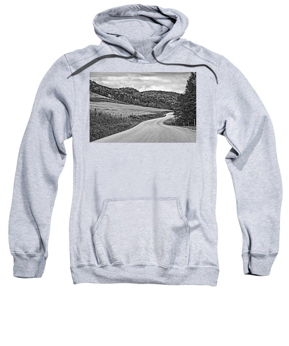 West Virginia Sweatshirt featuring the photograph Wandering In West Virginia Monochrome by Steve Harrington