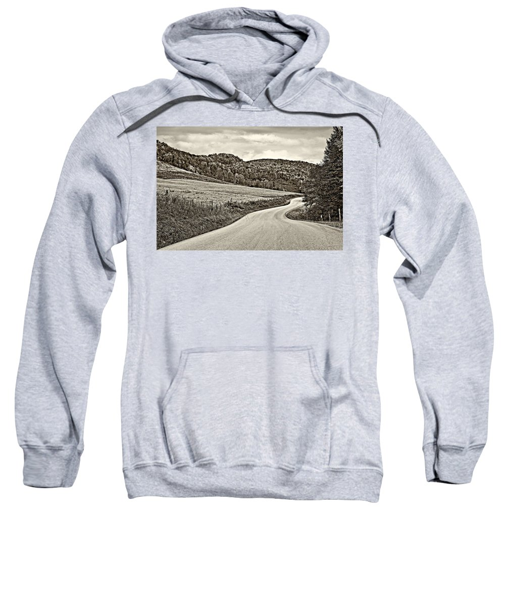 West Virginia Sweatshirt featuring the photograph Wandering In West Virginia Sepia by Steve Harrington