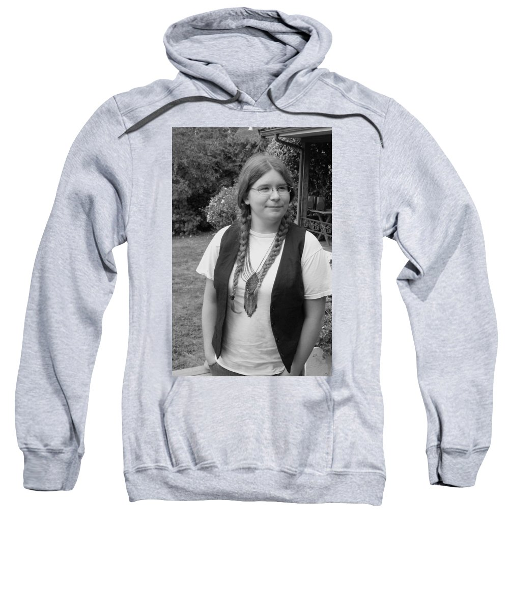 Portrait Sweatshirt featuring the photograph Wanted To Be Janis Joplin by Kym Backland