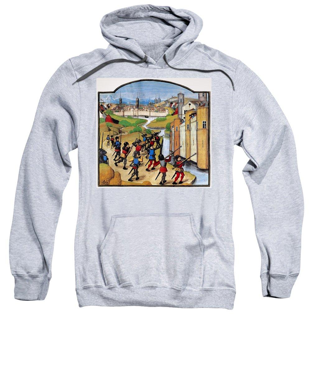 15th Century Sweatshirt featuring the photograph Warfare: Siege Of Arras by Granger