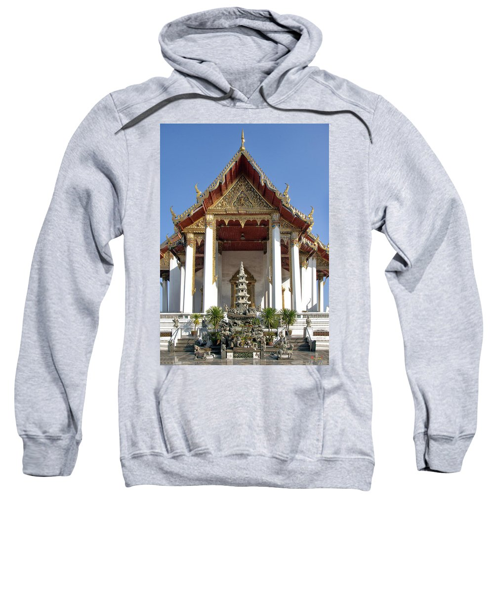 Bangkok Sweatshirt featuring the photograph Wat Suthat Principal Wiharn Dthb248 by Gerry Gantt