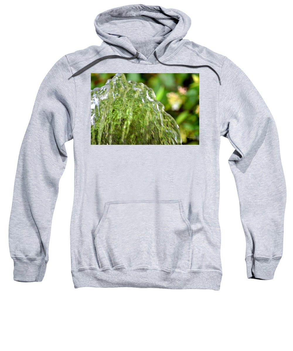 Water Sweatshirt featuring the photograph Water Shell by Maria Urso
