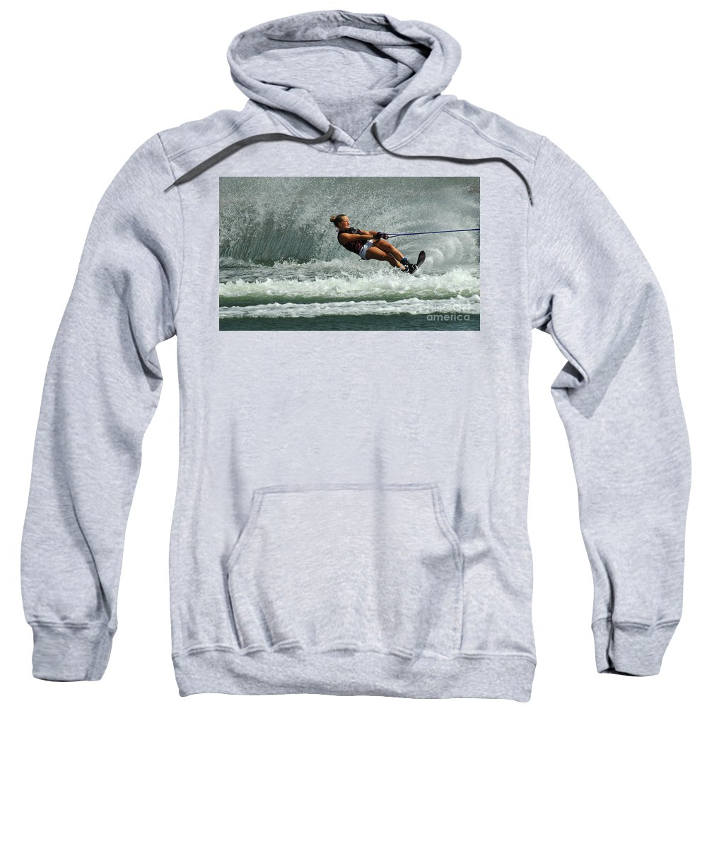 Water Skiing Sweatshirt featuring the photograph Water Skiing Magic Of Water 2 by Bob Christopher