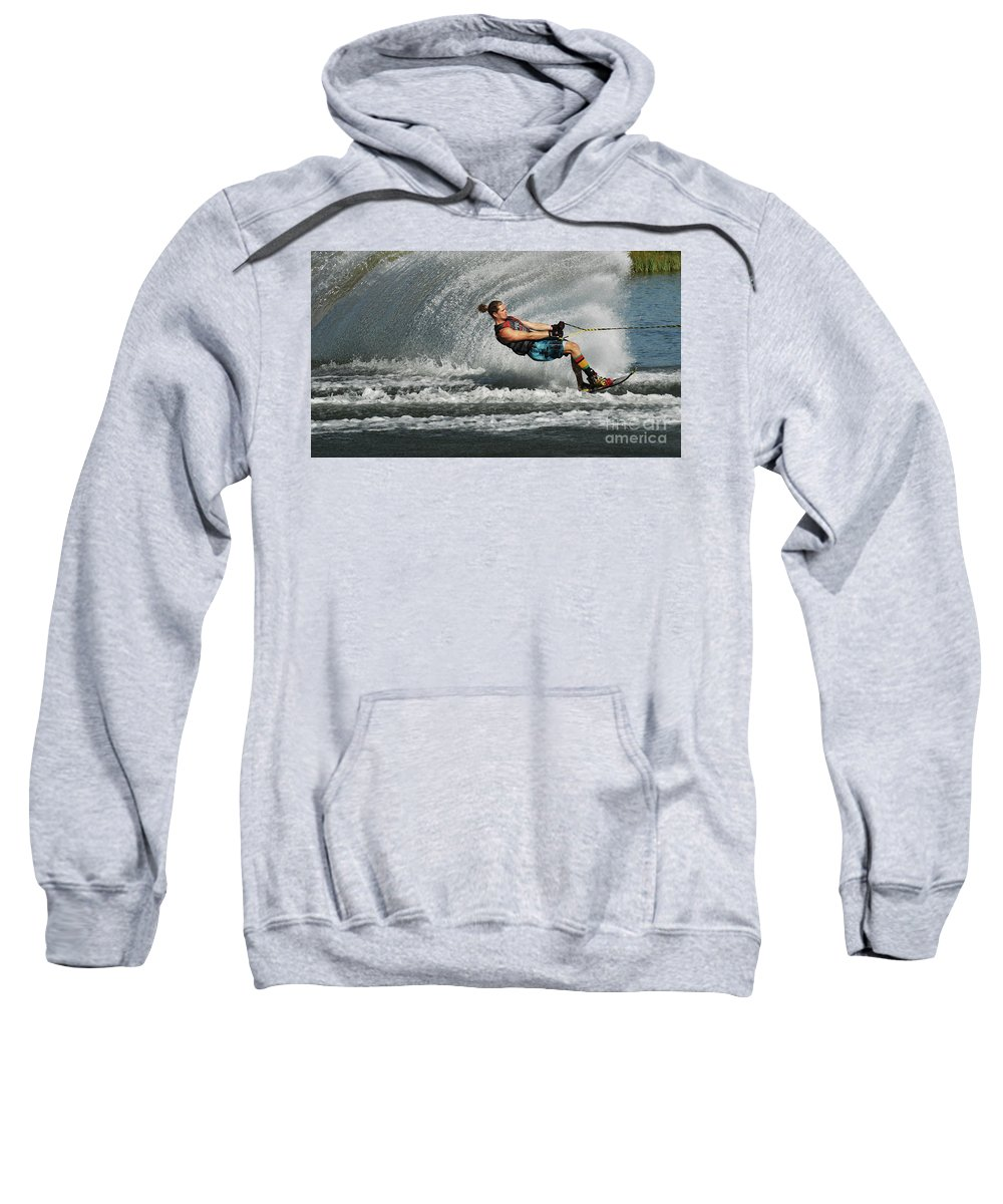 Water Skiing Sweatshirt featuring the photograph Water Skiing Magic Of Water 23 by Bob Christopher