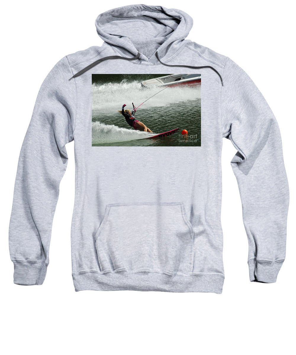 Water Skiing Sweatshirt featuring the photograph Water Skiing Magic Of Water 28 by Bob Christopher