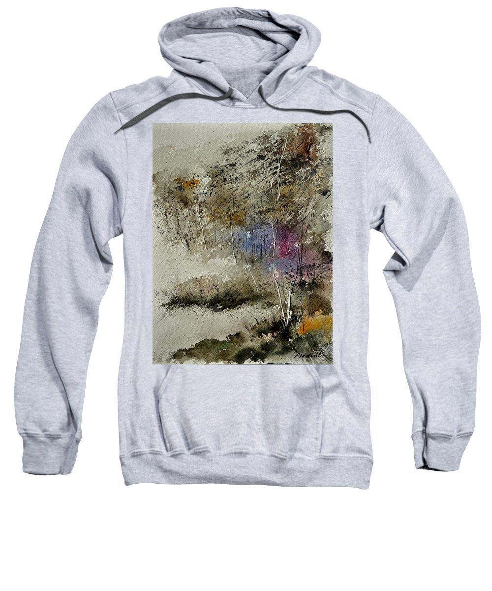 Landscape Sweatshirt featuring the painting Watercolor 110122 by Pol Ledent