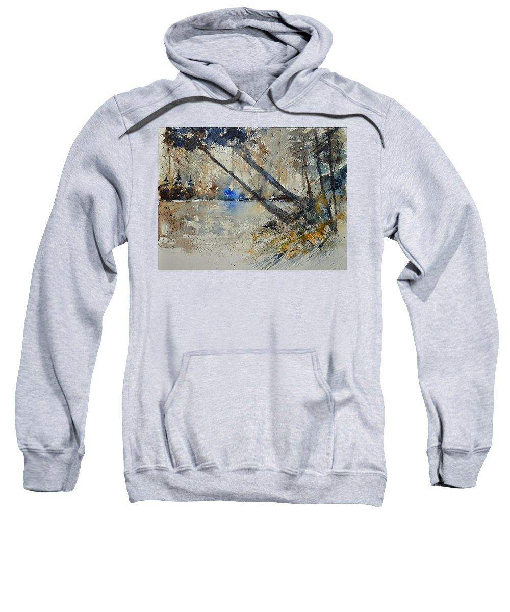 Landscape Sweatshirt featuring the painting Watercolor 119080 by Pol Ledent