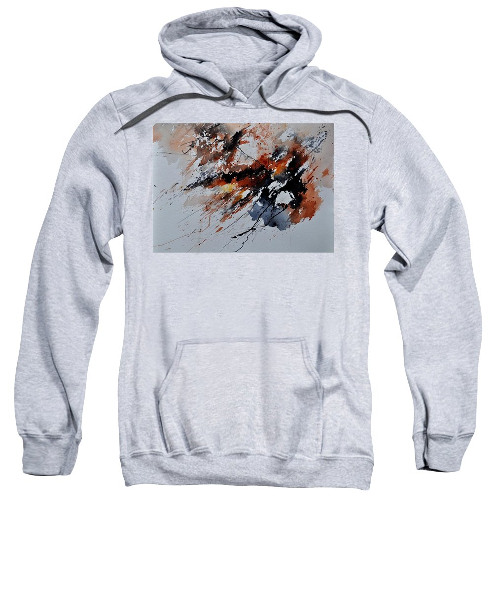 Abstract Sweatshirt featuring the painting Watercolor 217041 by Pol Ledent