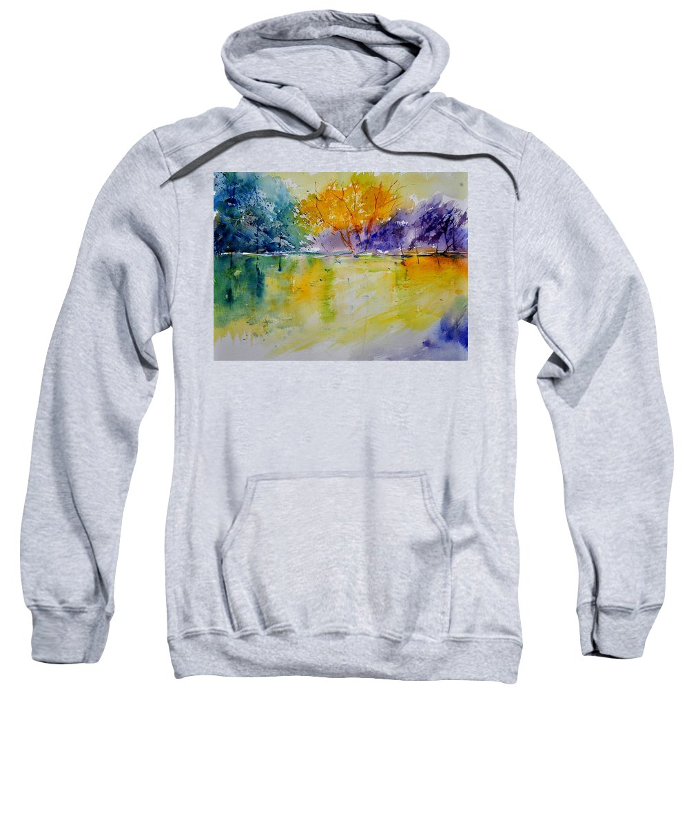 Landscape Sweatshirt featuring the painting Watercolor 219041 by Pol Ledent