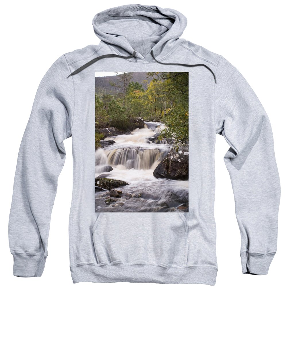 Aesthetic Sweatshirt featuring the photograph Waterfall In The Highlands by Howard Kennedy