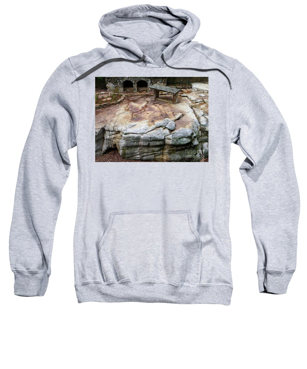 Stone Sweatshirt featuring the photograph Weathered Stone by Charleen Treasures