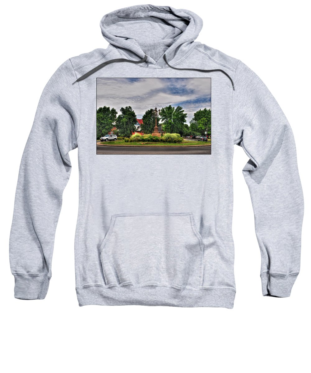 Sweatshirt featuring the photograph West Ferry Circle by Michael Frank Jr