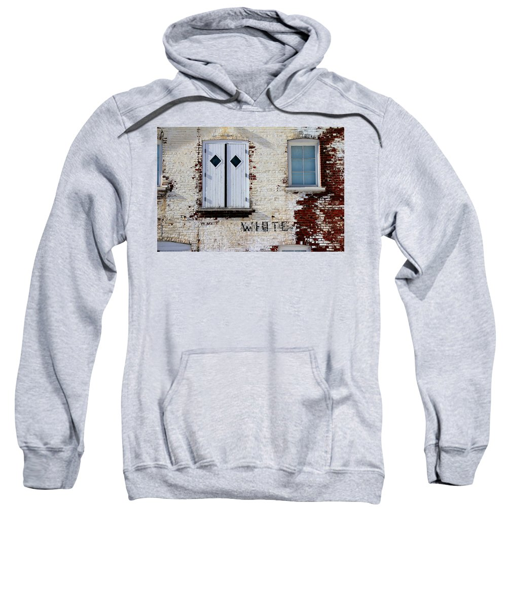 Brick Sweatshirt featuring the photograph White Brick by Andrew Fare