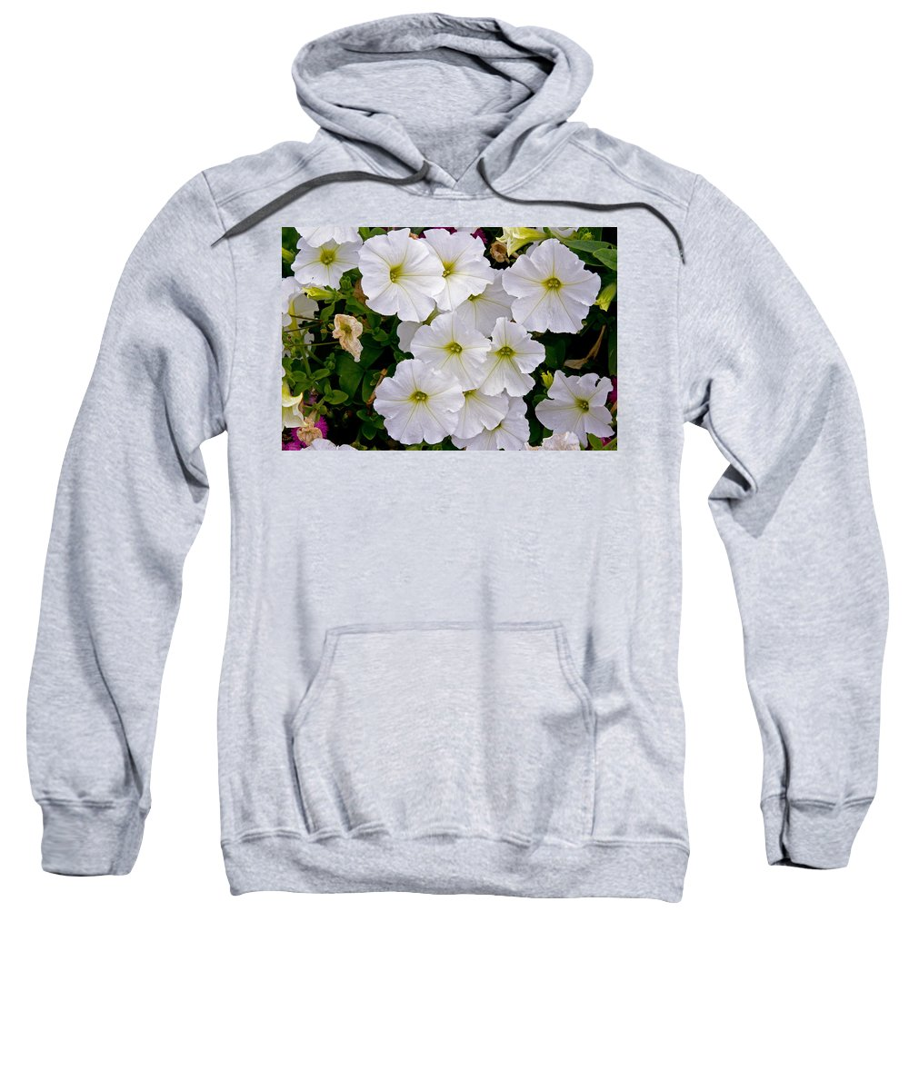 Flowers Sweatshirt featuring the photograph White Flowers by David Freuthal