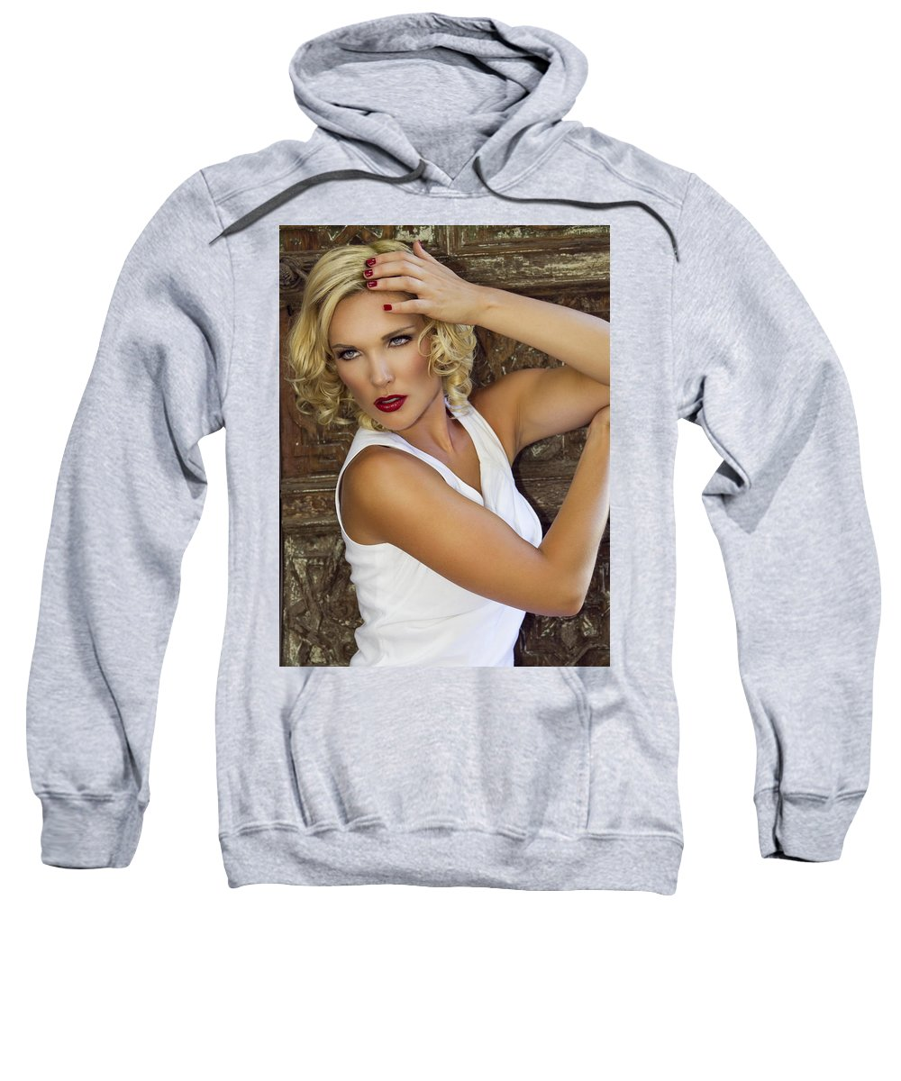 Female Sweatshirt featuring the photograph White Hot 2 Palm Springs by William Dey