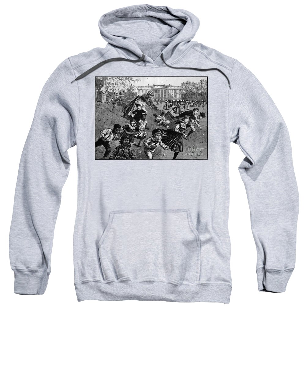 1887 Sweatshirt featuring the photograph White House: Easter, 1887 by Granger